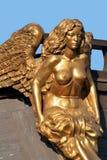 Standbeeld van gouden vrouw royalty-vrije stock afbeeldingen