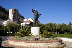 Standbeeld van Gr Biznaguero in het park van Malaga, Spanje stock afbeelding