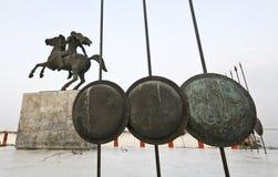Standbeeld van Grote Alexander in Griekenland Stock Afbeelding