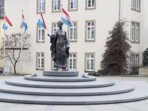 Standbeeld van Grote Hertogin de stad van Charlotte, Luxemburg Stock Afbeeldingen