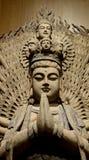 Standbeeld van Guan Yin Bodhisattva Stock Foto