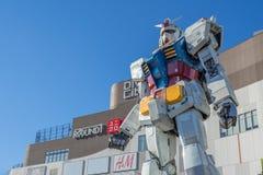 Standbeeld van Gundam bij het Plein van DivercCity Tokyo in Tokyo Royalty-vrije Stock Foto