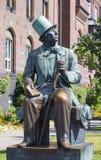 Standbeeld van Hans Christian Andersen in Kopenhagen, Denemarken Royalty-vrije Stock Foto's