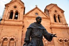 Standbeeld van Heilige Francis van Assisi, Santa Fe New Mexico royalty-vrije stock fotografie