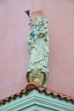 Standbeeld van Heilige Mary en de baby Jesus poznan Royalty-vrije Stock Afbeelding