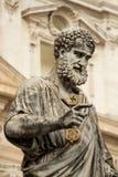 Standbeeld van Heilige Peter in Vatikaan Royalty-vrije Stock Afbeeldingen