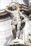 Standbeeld van heilige Sebastian stock afbeelding
