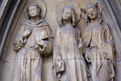 Standbeeld van heiligen Stock Foto's
