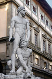 Standbeeld van Hercules en Cacus Stock Foto's