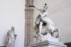 Standbeeld van Hercules, Loggiadei Lanzi, Florence, Italië royalty-vrije stock afbeeldingen