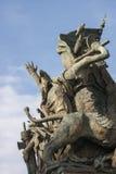 Standbeeld van het altaar van het vaderland in Rome (Italië) detail Stock Foto's