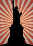 Standbeeld van het silhouet van de Vrijheid Royalty-vrije Stock Fotografie