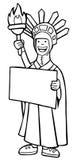 Standbeeld van het zwart-witte Kostuum van de Vrijheid - Stock Afbeeldingen