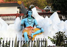 Standbeeld van Hindoes Lord Shiva, Rishikesh India Stock Fotografie