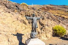 Standbeeld van Jesus bij de voet van Onderstel Stock Afbeelding