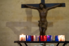 Standbeeld van Jesus Christ Stock Foto