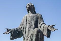 Standbeeld van Jesus Christ-het bidden Stock Foto
