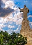 Standbeeld van Jesus Christ in Tudela, Spanje stock fotografie