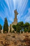 Standbeeld van Jesus Christ in Tudela, Spanje Stock Afbeelding