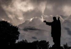 Standbeeld van Jesus-Christus Stock Afbeeldingen
