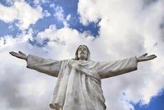 Standbeeld van Jesus-Christus in Cuzco stock afbeeldingen