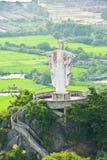 Standbeeld van Jesus op Berg Stock Afbeeldingen