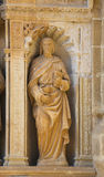 Standbeeld van John de Apostel in de Heilige Thomas Church van Haro, L Royalty-vrije Stock Afbeeldingen