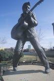 Standbeeld van jong Elvis Presley op Beale-Straat, Memphis, TN Royalty-vrije Stock Fotografie