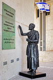 Standbeeld van Josephus Flavius dichtbij de Masada-Vesting, Israël Royalty-vrije Stock Afbeelding