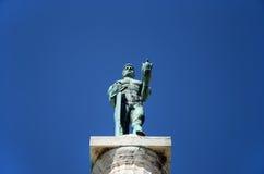 Standbeeld van Kampioen (Pobednik), Belgrad, Servië Royalty-vrije Stock Afbeelding