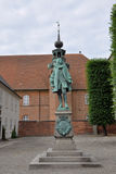Standbeeld van Kanselier Peder Griffenfeld, Kopenhagen stock foto