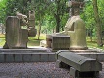 Standbeeld van keizer en zijn loyale bediende, Wuhan stock afbeeldingen