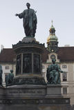 Standbeeld van Keizer Franz I in binnenplaats van Amalienburg-Paleis Royalty-vrije Stock Foto