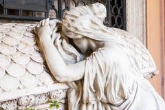 Standbeeld van kerkhof Stock Afbeeldingen