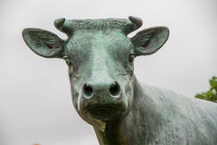 Standbeeld van koe stock afbeelding