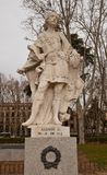 Standbeeld van Koning Alfonso III van Asturias (circa 1753).  Madrid Stock Foto's