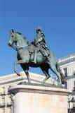 Standbeeld van koning Carlos in Madrid royalty-vrije stock foto's