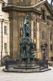 Standbeeld van Koning Charles IV (Karolo Kwarto) Stock Foto