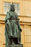Standbeeld van Koning Charles IV in Praag Royalty-vrije Stock Afbeelding