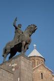 Standbeeld van Koning Gorgasali, Tbilisi Royalty-vrije Stock Fotografie