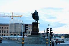 Standbeeld van koning Gustaf III in Stockholm, Zweden Royalty-vrije Stock Afbeeldingen