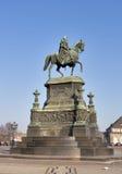 Standbeeld van Koning Johann (1801-1873) in Dresden stock fotografie