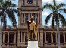 Standbeeld van Koning Kamehameha I Stock Afbeelding