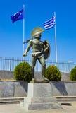 Standbeeld van koning Leonidas in Sparta, Griekenland Stock Foto's