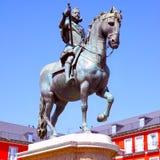 Standbeeld van Koning Philip III Stock Fotografie