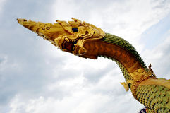 Standbeeld van Koning van Nagas Royalty-vrije Stock Foto