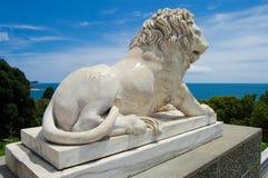 Standbeeld van leeuw Stock Foto