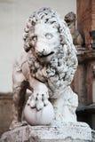 Standbeeld van leeuw, Florence, Italië stock foto
