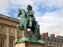 Standbeeld van Louis XIV, koning van Frankrijk Stock Fotografie