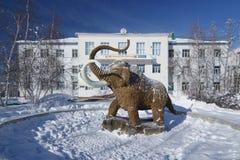 Standbeeld van Mammoet in Yakutsk Stock Afbeelding